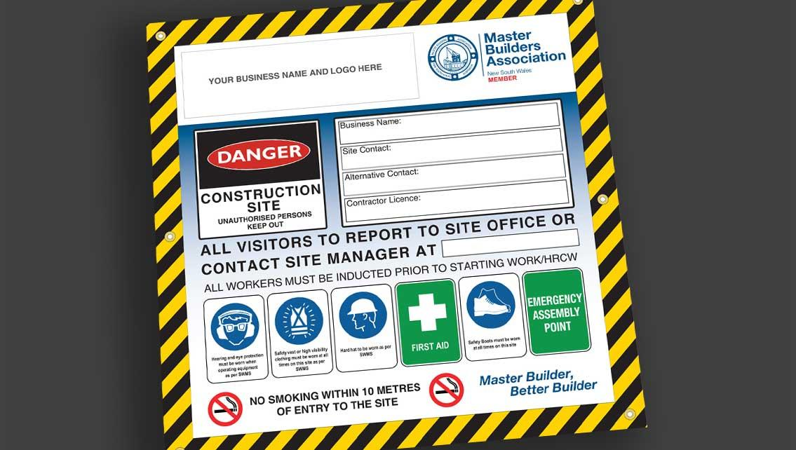 Site Safety Sign - Member